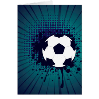 Soccer Ball on Rays Background 2 Card