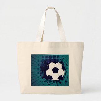 Soccer Ball on Rays Background 2 Large Tote Bag