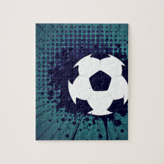 Soccer Ball on Rays Background 2 Puzzles