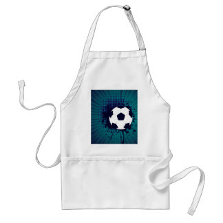Soccer Ball on Rays Background 2 Standard Apron