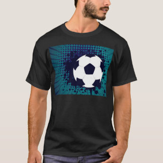 Soccer Ball on Rays Background 2 T-Shirt