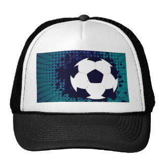 Soccer Ball on Rays Background 2 Trucker Hat