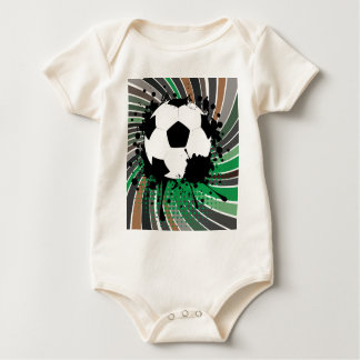 Soccer Ball on Rays Background 3 Baby Bodysuit