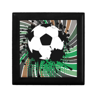 Soccer Ball on Rays Background 3 Jewelry Boxes