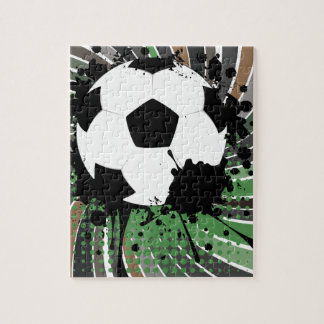 Soccer Ball on Rays Background 3 Jigsaw Puzzle