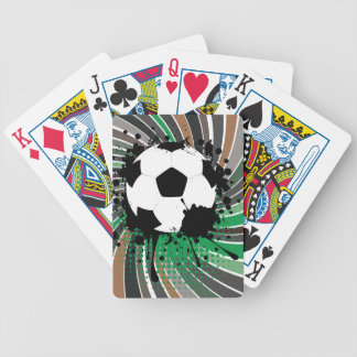 Soccer Ball on Rays Background 3 Poker Deck