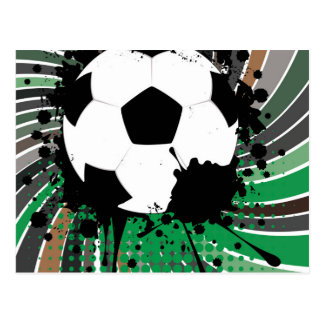 Soccer Ball on Rays Background 3 Postcard