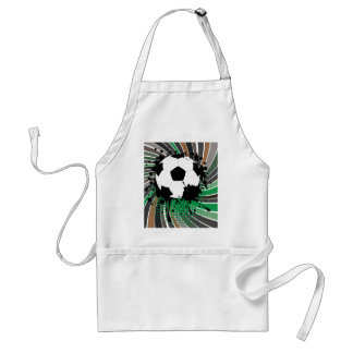Soccer Ball on Rays Background 3 Standard Apron