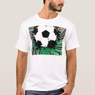 Soccer Ball on Rays Background 3 T-Shirt