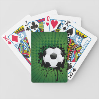 Soccer Ball on Rays Background Bicycle Playing Cards