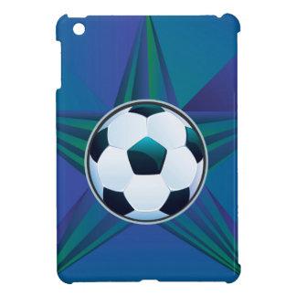 Soccer Ball on Rays Background iPad Mini Case