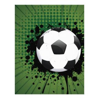 Soccer Ball on Rays Background Letterhead