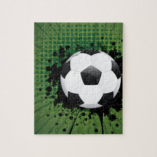 Soccer Ball on Rays Background Puzzles