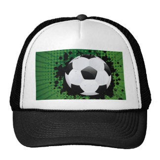 Soccer Ball on Rays Background Trucker Hat