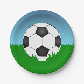 Soccer Ball Paper Plate