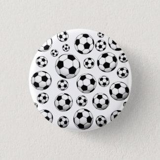 Soccer Ball Pattern 1 Inch Round Button