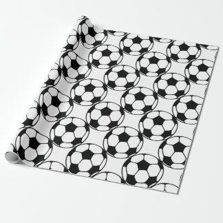 soccer ball pattern in black&white wrapping paper