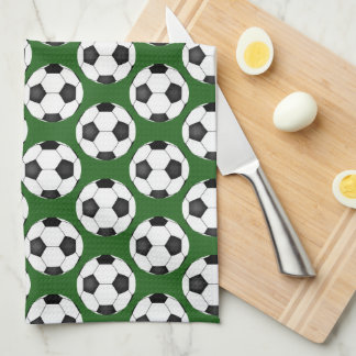 Soccer Ball Pattern Kitchen Towel