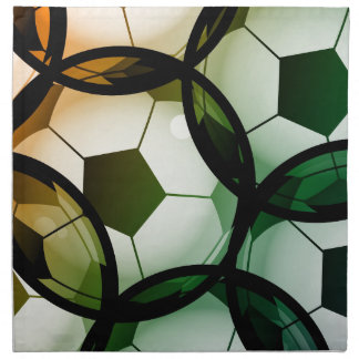 Soccer Ball Pattern Napkin