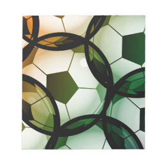 Soccer Ball Pattern Notepad