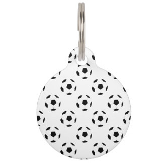 Soccer Ball Pattern Pet Tag
