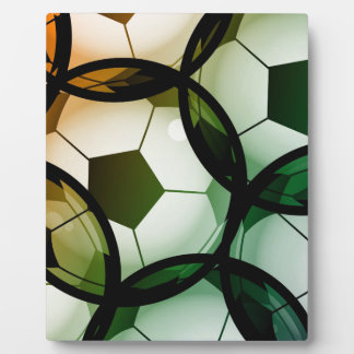 Soccer Ball Pattern Plaque