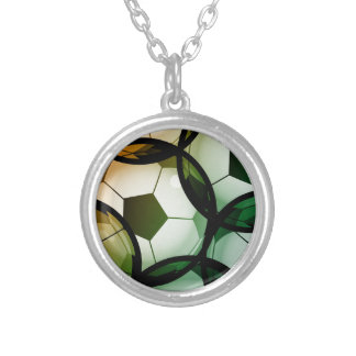 Soccer Ball Pattern Silver Plated Necklace