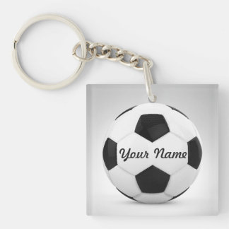 Soccer Ball Personalized Gift Ideas Keychain