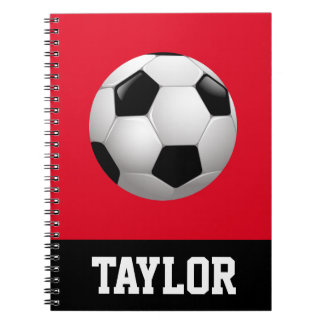 Soccer Ball Personalized Notebooks