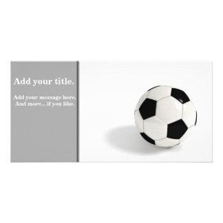Soccer ball photo card template