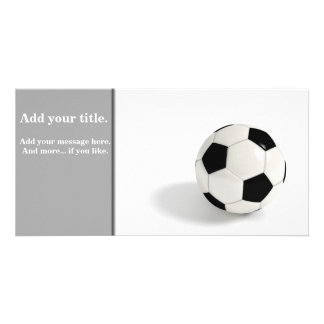 Soccer ball photo cards