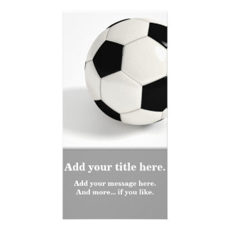 Soccer ball. picture card
