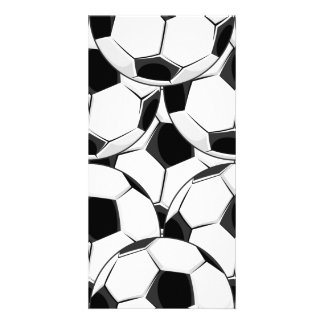 Soccer Ball Pile Pattern Personalized Photo Card