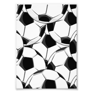 Soccer Ball Pile Pattern Photograph