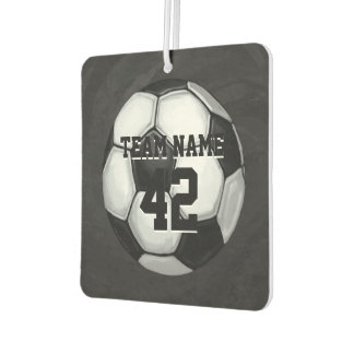 Soccer Ball Player name and Number Car Air Freshener