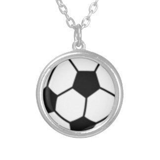 soccer-ball.png silver plated necklace