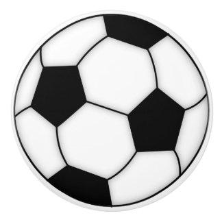 Soccer Ball Porcelain Knobs