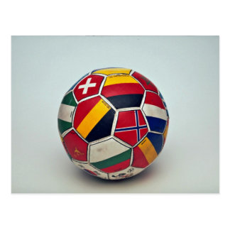 Soccer ball postcard
