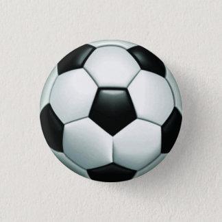 Soccer Ball Round Pinback Button