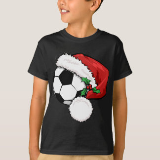 Soccer Ball Santa Cap Tees