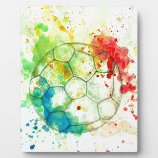 Soccer Ball Sketch01 Plaque