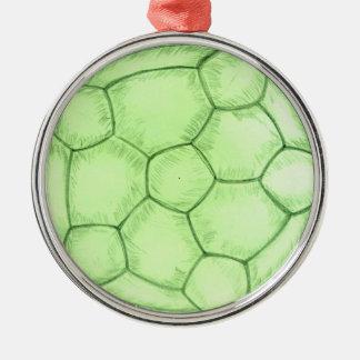 Soccer Ball Sketch 2 Metal Ornament