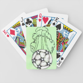 Soccer Ball Sketch 3 Bicycle Playing Cards