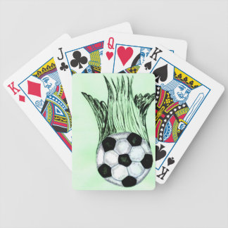 Soccer Ball Sketch 4 Bicycle Playing Cards