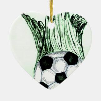 Soccer Ball Sketch 4 Ceramic Ornament