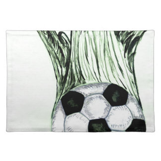 Soccer Ball Sketch 4 Placemat