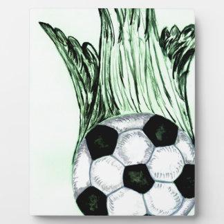 Soccer Ball Sketch 4 Plaque
