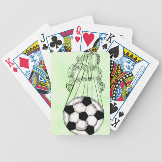 Soccer Ball Sketch 5 Bicycle Playing Cards