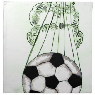Soccer Ball Sketch 5 Napkin