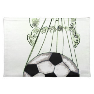Soccer Ball Sketch 5 Placemat